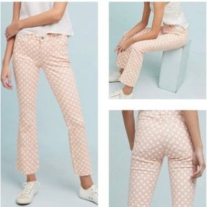 PILCRO Jeans Orange Crop Polkadot Raw Hem Ankle 27